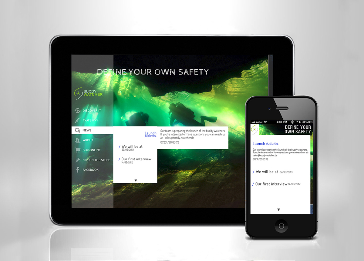 Buddy Wathcer Responsive Web Tablet Devices