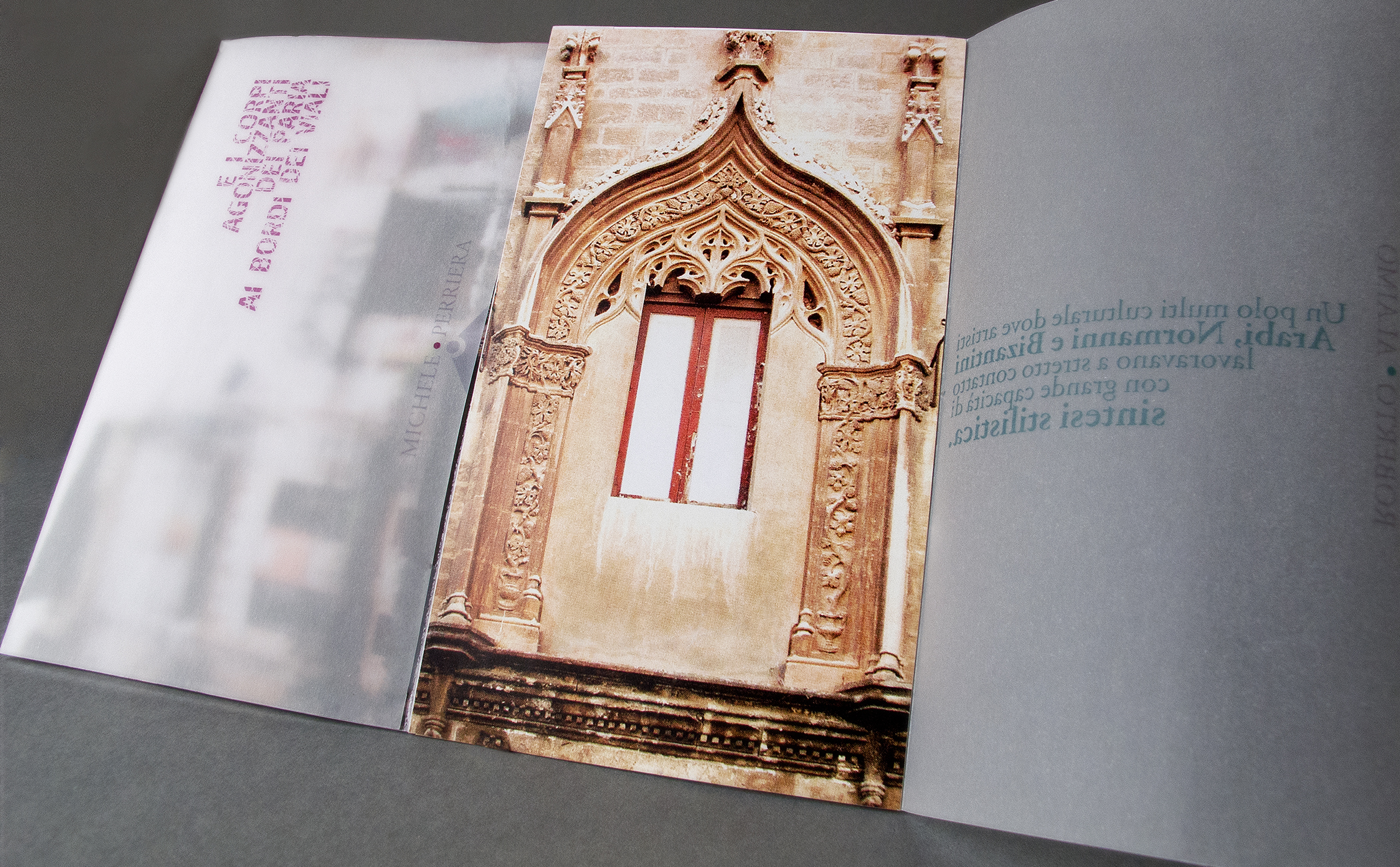 Palermo,Postcard, Concept, Contrasts, Stratifications,Norman-Arab-Byzantine, Textual compositions