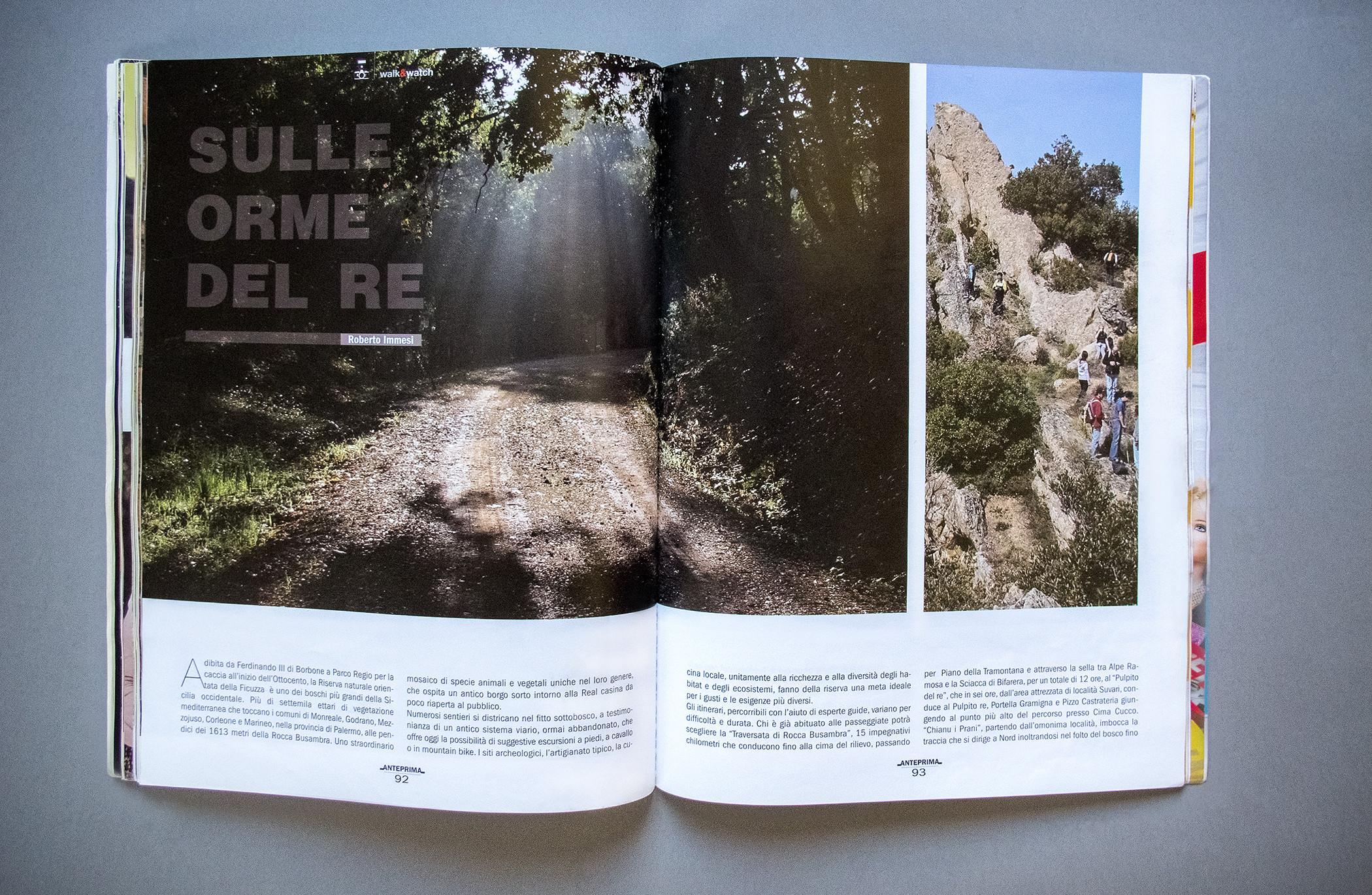 Anteprima Magazine Pagination Sulle Orme Del Re